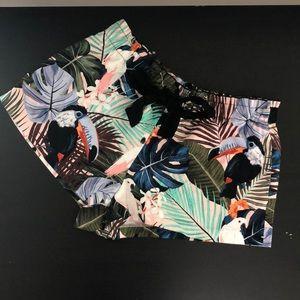 Zara Trafaluc collection tropical print shorts